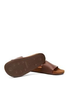 Aquatalia - Men's Percy Pebbled Leather Slide Sandals