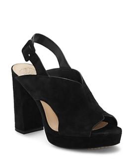 VINCE CAMUTO - Women's Jeangel Suede Block-Heel Mules