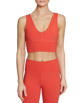 Betsey Johnson - Smocked Sports Bra