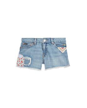 Ralph Lauren - Girls' Distressed Denim Shorts - Little Kid