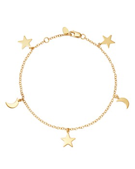 Moon & Meadow - 14K Yellow Gold Celestial Charm Bracelet - 100% Exclusive
