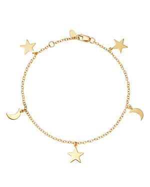 Moon & Meadow 14K Yellow Gold Celestial Charm Bracelet - 100% Exclusive