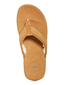 UGG® - Men's Seaside Tasmania Suede & Shearling Flip-Flops