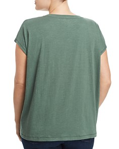 Eileen Fisher Plus - Organic Cotton Cap-Sleeve Tee