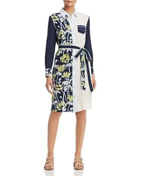 d770ee9b3b Tory Burch - Silk Patchwork Shirt Dress ...