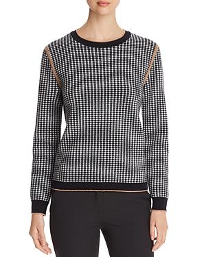 Max Mara Sweaters MAXMARA COLLE HOUNDSTOOTH SWEATER
