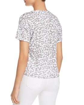 Red Haute - Leopard-Print Tie-Front Shirt