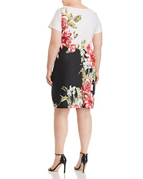 1f8818d1207 ... Adrianna Papell Plus - Color-Blocked Floral A-Line Dress