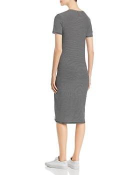 Vero Moda - Striped Short-Sleeve Midi Dress