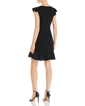 Adrianna Papell - Flounced Crepe Dress