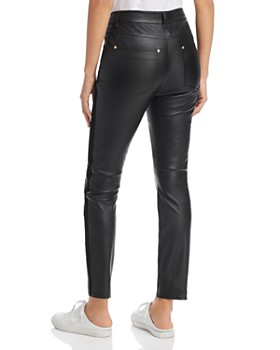 Escada Sport - Lenima Leather Skinny Jeans in Black