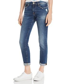 f3b611d867c26 FRAME - Le Garcon Slim Boyfriend Jeans in Azure ...