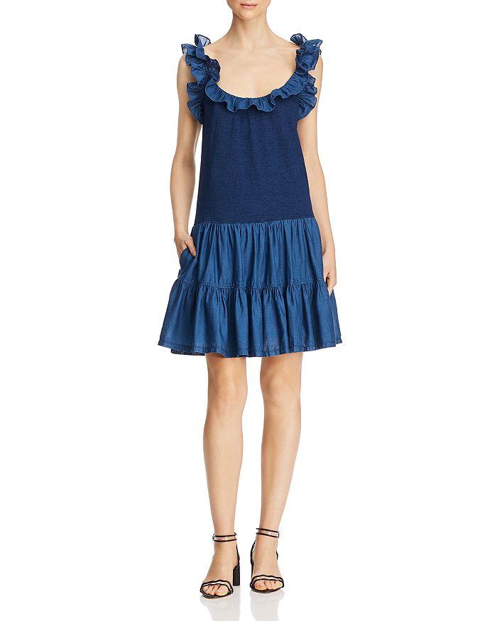 Rebecca Taylor - Ruffled Mixed-Media Dress