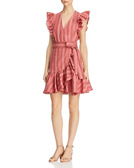 Rebecca Taylor - Striped Wrap Dress