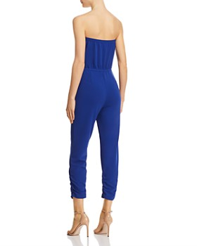 AQUA - Strapless Ruched Jumpsuit - 100% Exclusive