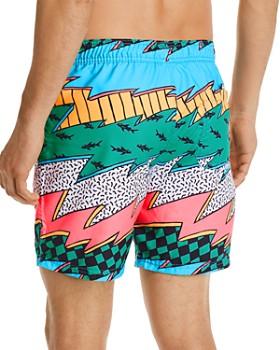 Maui and Sons - Thrasher Graphic-Print Swim Shorts