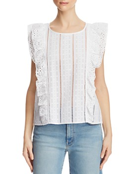 BB DAKOTA - Eyelet-Trim Embroidered Top