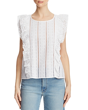 Bb Dakota Eyelet-Trim Embroidered Top