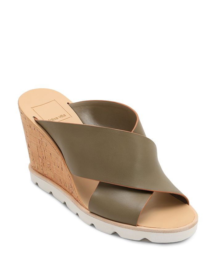 Dolce Vita - Women's Lida Leather Wedge Sandals