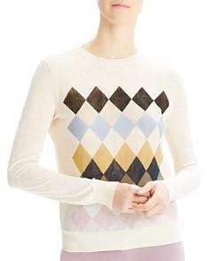Theory - Diamond-Pattern Sweater