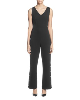 T Tahari - Sleeveless V-Neck Jumpsuit