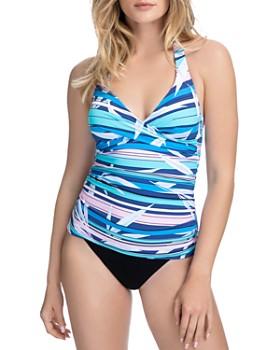 Profile by Gottex - Palm Beach Halter Tankini Top & Tutti Frutti Classic Seamless Tankini Bottom