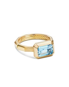 David Yurman - 18K Yellow Gold Novella Gemstone Ring