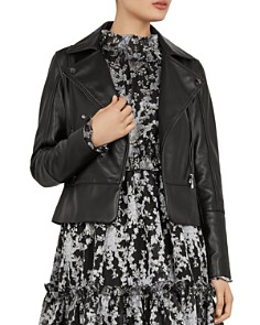 Ted Baker - Mandyy Leather Biker Jacket