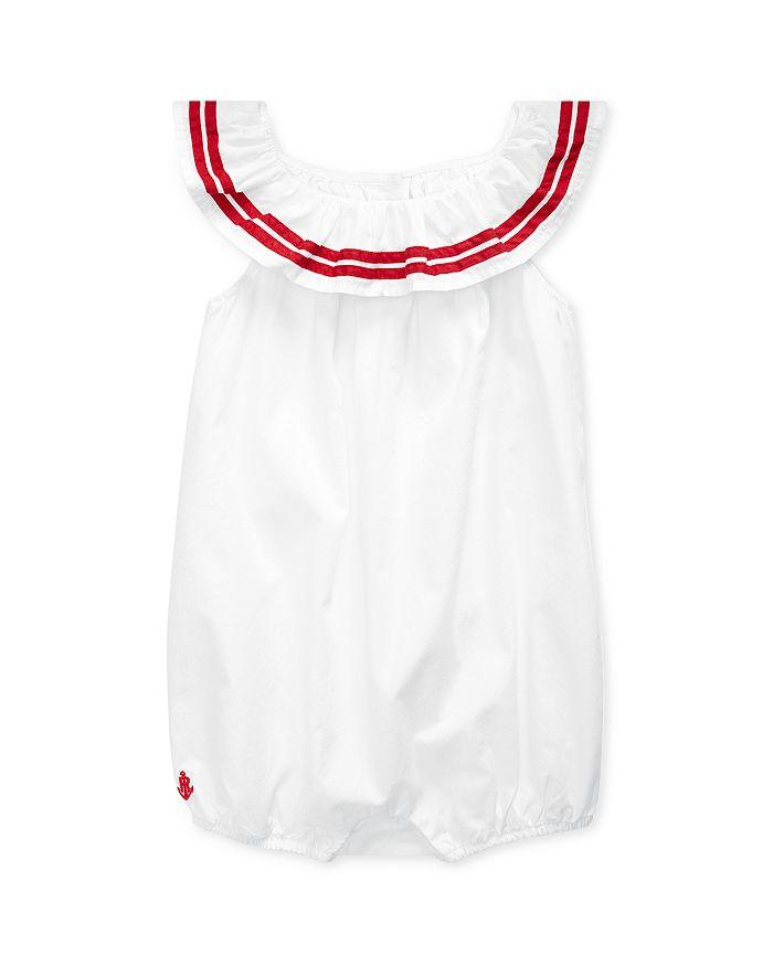 Ralph Lauren - Girls' Striped-Border Bubble Romper - Baby