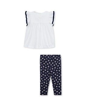 Ralph Lauren - Girls' Nautical Ruffled Top & Leggings Set - Baby