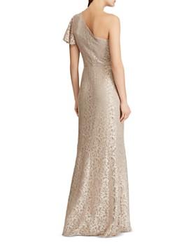 Ralph Lauren - One-Shoulder Lace Gown