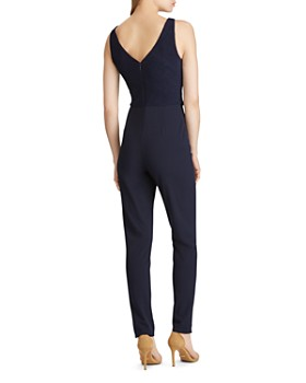 Ralph Lauren - Tie-Front Crepe Jumpsuit