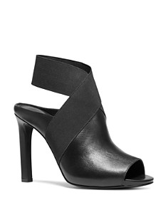 MICHAEL Michael Kors - Women's Ames Open-Toe High-Heel Booties