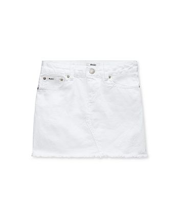 Ralph Lauren - Girls' Frayed Denim Skirt - Big Kid