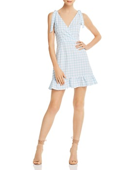The Fifth Label - Nouveau Gingham Ruffled Mini Dress