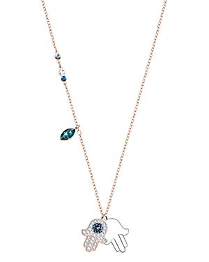 Swarovski Symbolic Hamsa Hand Pendant Necklace, 14.9