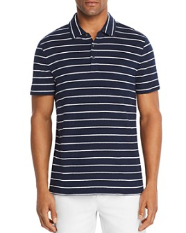 Michael Kors - Striped Slub-Knit Classic Fit Polo Shirt