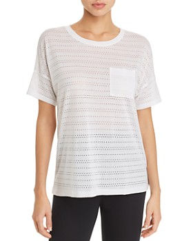 Beyond Yoga -  Off Cuff Pocket Perforated Tee