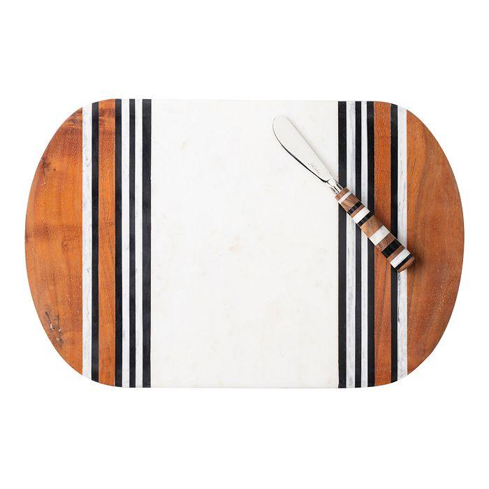 Juliska - Stonewood Stripe Serving Board & Spreaders