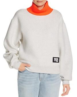 alexanderwang.t - Layered-Look Fleece Sweatshirt