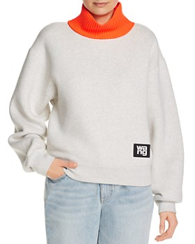 alexanderwang.t - Layered-Look Fleece Sweatshirt