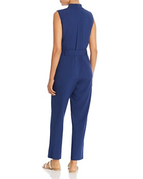 Kenneth Cole - Sleeveless Belted Jumpsuit