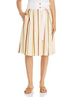 Tory Burch - Striped Drop-Waist Skirt