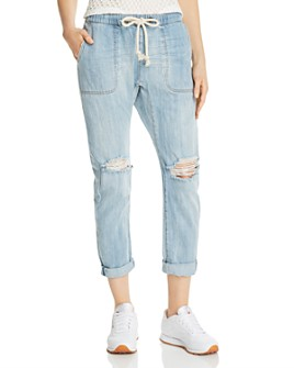 One Teaspoon - Shabbies Drawstring Boyfriend Denim Jogger Pants