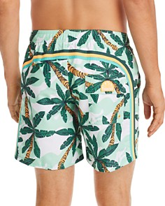 SUNDEK - Palm Tree-Print Swim Trunks