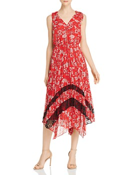 nanette Nanette Lepore - Pleated Floral Dress