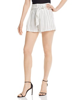7 For All Mankind - Tie-Waist Striped Shorts