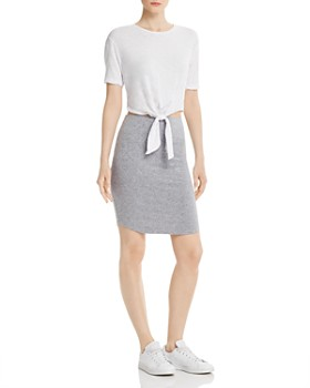 Monrow - Contrast Tie-Waist Dress