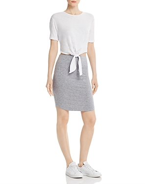 Monrow Contrast Tie-Waist Dress