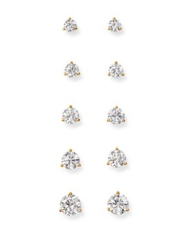 Bloomingdale's - Certified Diamond Stud Earrings in 18K Yellow Gold Martini Setting - 100% Exclusive